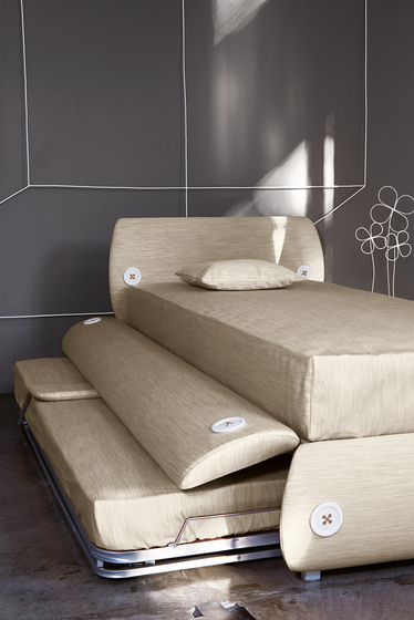 Candy-Tre Twin Bed with Trundle by Bonaldo at IQMatics