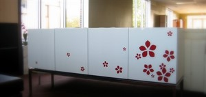 Ara - White Lacquer with Red Flowers - SOLD
