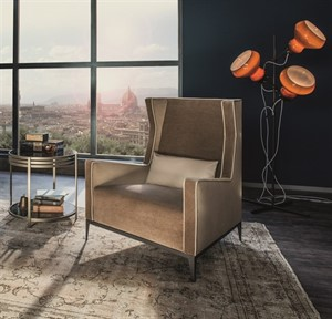 Arketipo - Goldfinger Armchair with Ottoman