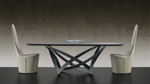 Reflex - Infinito Wood Top Dining Table