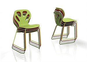 Maple - Stackable Chairs on Runners