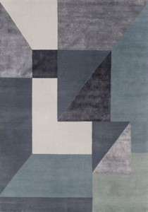 Linie Design - Trisquare Blue Rug - SALE